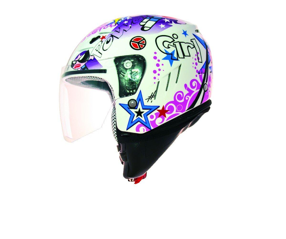 SHIRO Casco Jet bambini Tres Chic, Multicolore, Taglia XS 128.0020060XS