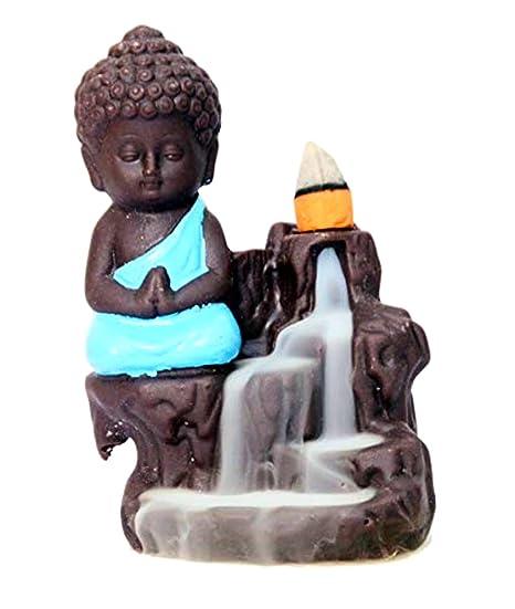 CSU Smoke Fountain Monk Buddha (Blue)