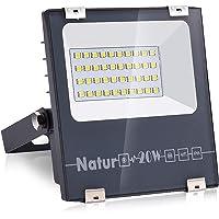 Natur 20W LED Foco Exterior alto brillo 2000LM,Impermeable IP66 Proyector Foco LED, Iluminación de Seguridad,Blanco…