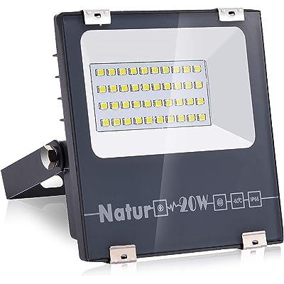 Natur 20W LED Foco Exterior alto brillo 2000LM,Impermeable IP66 Proyector Foco LED, Iluminación de Seguridad,Blanco cálido(3000K) para Patio,Camino, Jardín[Clase de eficiencia energética A++]