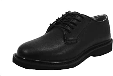 Police Uniform Black Oxford Shoes