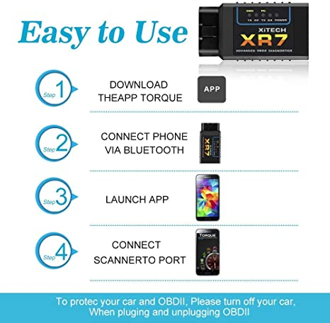 Oladwolf Obd2 Diagnosegerät Bluetooth Adapter Auto Elm327 Obd Stecker Für Fahrzeuge Universal Fehler Code Kfz Auslesegerät Diagnose Scanner Für Android Windows Smartphone Tablet Auto