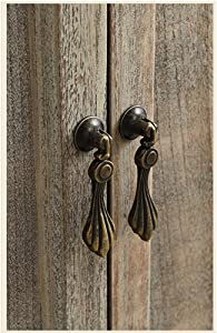 4 Pcs of Euro Style Antique Brass Kitchen Cabinet Knobs Pulls, Vintage Dresser Drawer Handles, Bronze Knobs Drawer Pulls Drop Pull Handles(8)