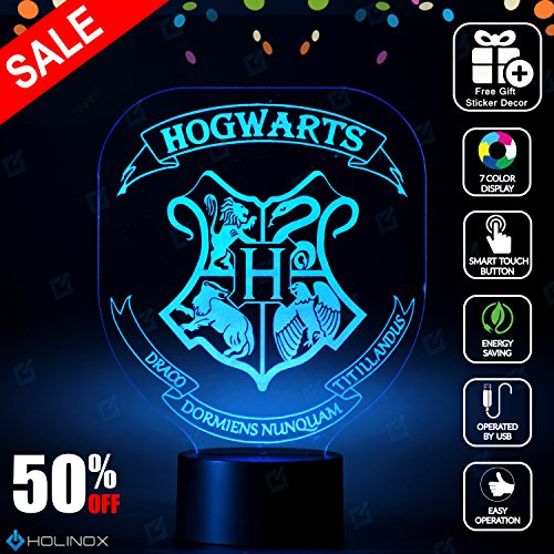 [Harry Potter Hogwarts Lighting Decor Gadget Lamp + Sticker Decor for Perfect Set, Awesome Gift] (Incredibles Costumes Designer)