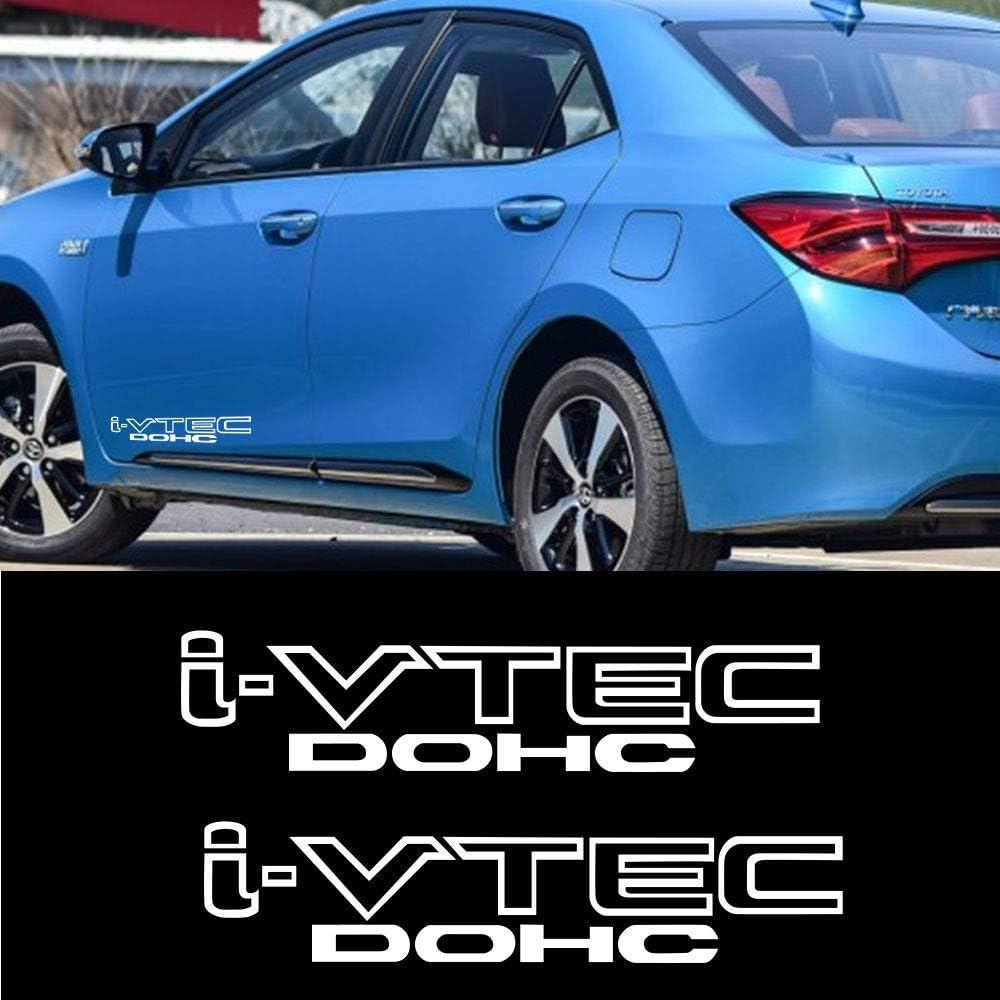 luluda Car Sticker Vinyl Decal for i-VTEC Dohc White