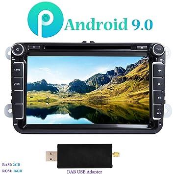 """Android 9.0 Autoradio, Hi-azul 8"""" Radio de Coche 4-Core Navegación"""