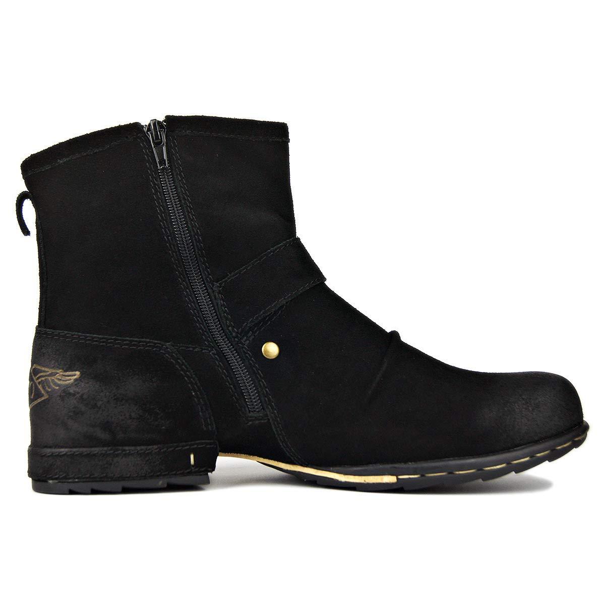 Suetar Echtes Leder Chukka Stiefel für Männer Herbst Herbst Herbst und Winter Mode Zipper-up Stiefeletten Herren Western Freizeitschuhe B07PT7XL84 130d8f