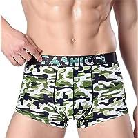 QIYUN.Z Mens Fashion Printed Pattern Ice Silk Boxer Briefs