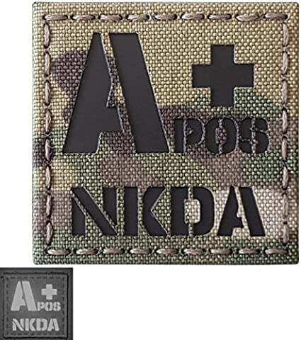 Blood Type IR Style Military Tactical   Patch