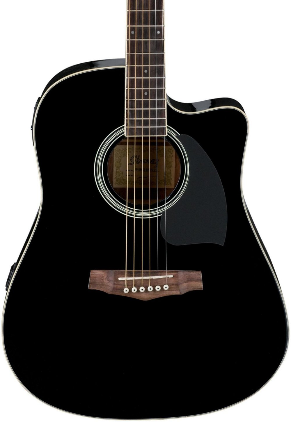 Ibanez PF15ECE Dreadnought Cutaway Acoustic-Electric Cutaway Guitar Black PF15ECEBK