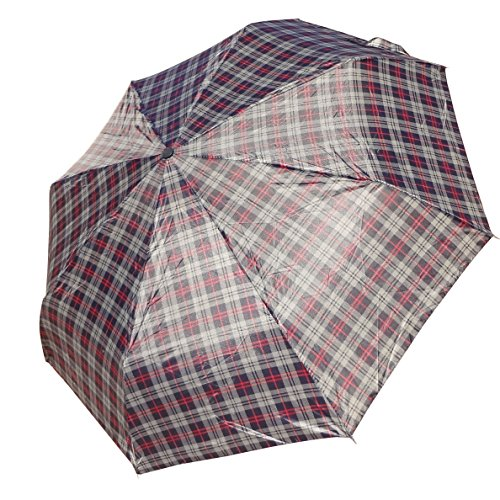 Best Handy Blue Plaid Mens or Womens Designer Stylish Rain or Sun Umbrella Unique Summer Back to School Gift for Dad Him Her Women