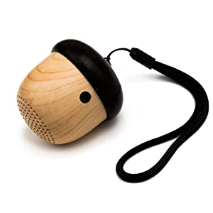 JSAUX Portable Mini Wireless Nut Speaker with Enhanced Bass and Built-in Mic and Sling for Home Outdoor Travel Compatible with iPhone iPad Android Samsung Tablet and More