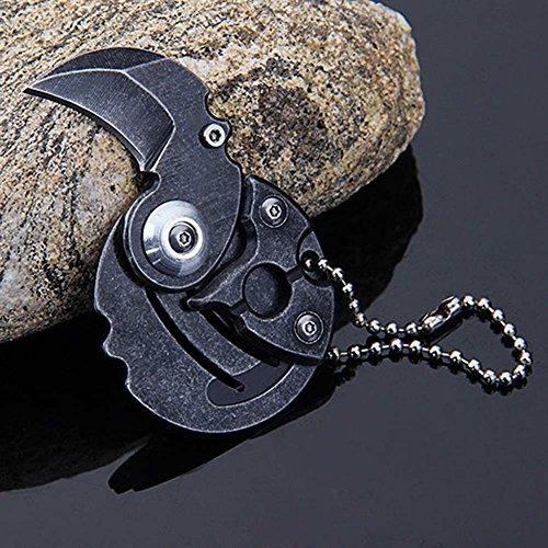 Your Supermart Multifunction Mini Portable Foldable Pocket Coin Knife Keychain Tool