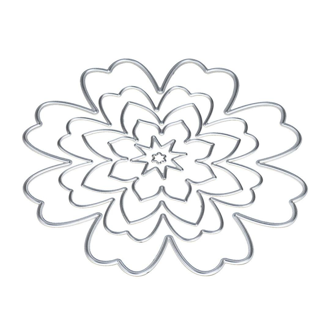 Covermason DIY Craft Flower/Heart/Star Metal Cutting Dies stamper Stencils For Scrapbooking Album Paper Card (A)
