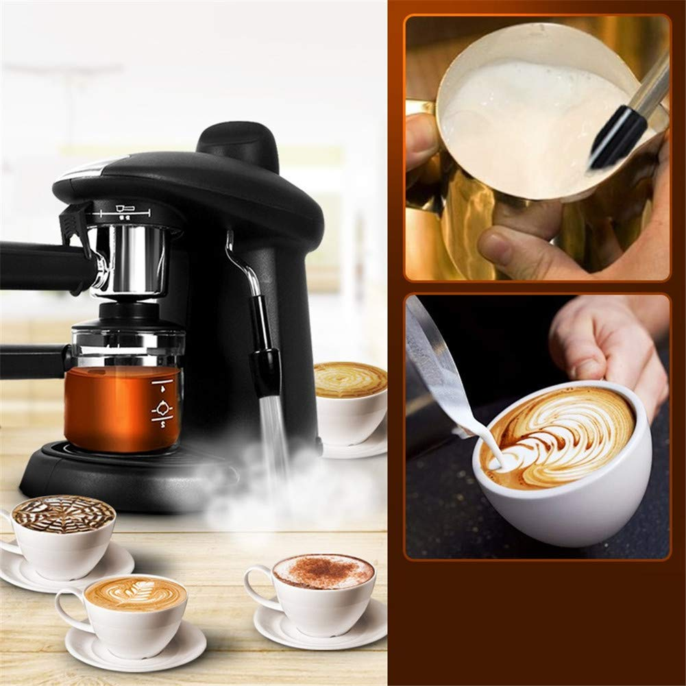 YSCCSY Cafetera 250Ml Italiano Espresso Máquina Cafetera Automática Café Cappuccino Leche Espuma Vapor 5Bar 220V: Amazon.es: Hogar
