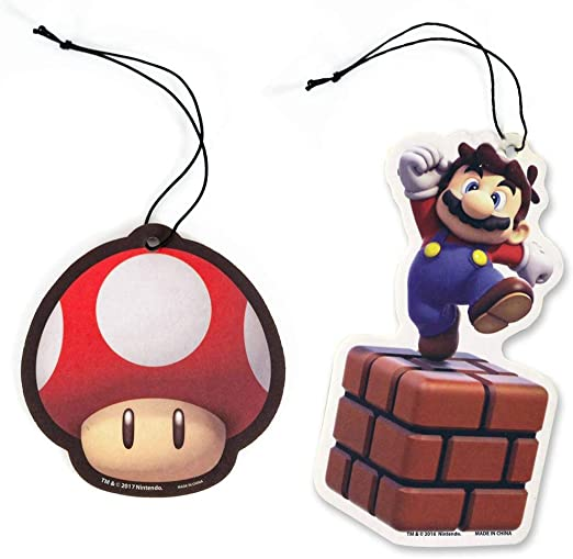 Amazon Com Super Mario Bros 4 X Mario And 4 X Mushroom Air Freshener Bundle 8 Pack Kitchen Dining