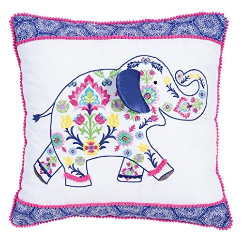 Trend Lab Waverly Baby Santa Maria Henna Elephant Decorative Pillow, Multicolor -