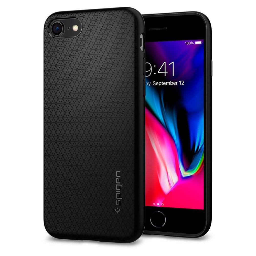 Spigen Liquid Air Armor iPhone 7 Case/iPhone 8 Case with Durable Flex and Easy Grip Design for Apple iPhone 7 (2016) / iPhone 8 (2017) - Black