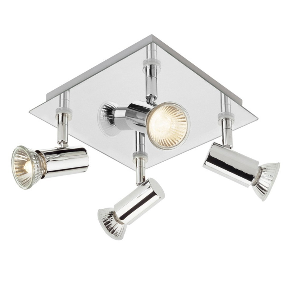 Modern square chrome 4 way gu10 ceiling spotlight amazon modern square chrome 4 way gu10 ceiling spotlight amazon lighting mozeypictures