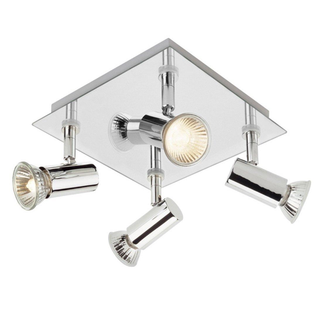 Modern square chrome 4 way gu10 ceiling spotlight amazon modern square chrome 4 way gu10 ceiling spotlight amazon lighting aloadofball Choice Image