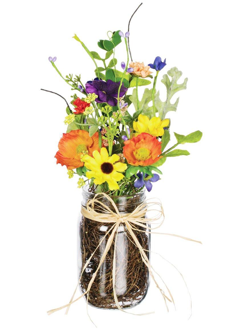Amazon Sullivans 11 Artificial Wildflower Arrangement In Glass