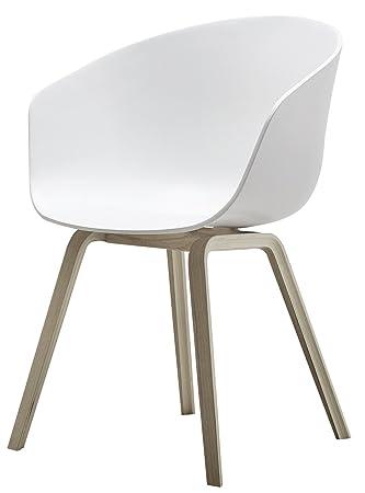 Hay - Hay dk about a chair 22 heno sobre una silla aac 22 estructura de cuatro patas de madera (roble enjabonado) / deslizadores de fieltro blanco: ...