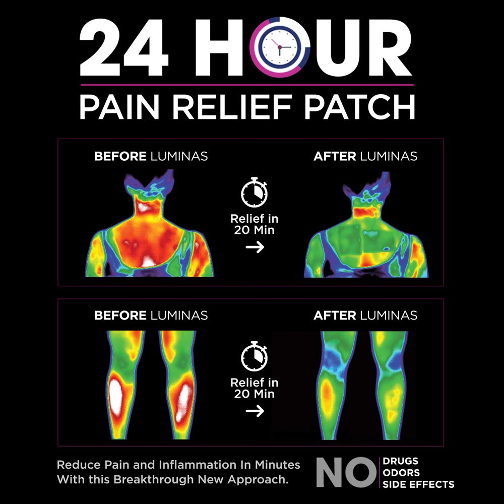 Details about Luminas Pain Relief Patch (for Joint Pain, Back Pain, Hip  Pain, Neck Pain, He