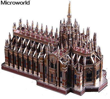[해외]Microworld 3D 메탈 퍼즐 밀라노 대성당 Duomo di Milano 모델 키트 J045-C DIY 3D 레이저 컷 조립 직소 장난감 / Microworld 3D Metal Puzzle Milan Cathedral Duomo di Milano Model Kits J045-C DIY 3D Laser Cut Assemble Jigsaw Toys