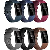 Waterproof Bands for Fitbit Charge 3/ Fitbit Charge 4/ Charge3 SE (2 Pack), Replacement Wristbands Watch Strap Fitness…