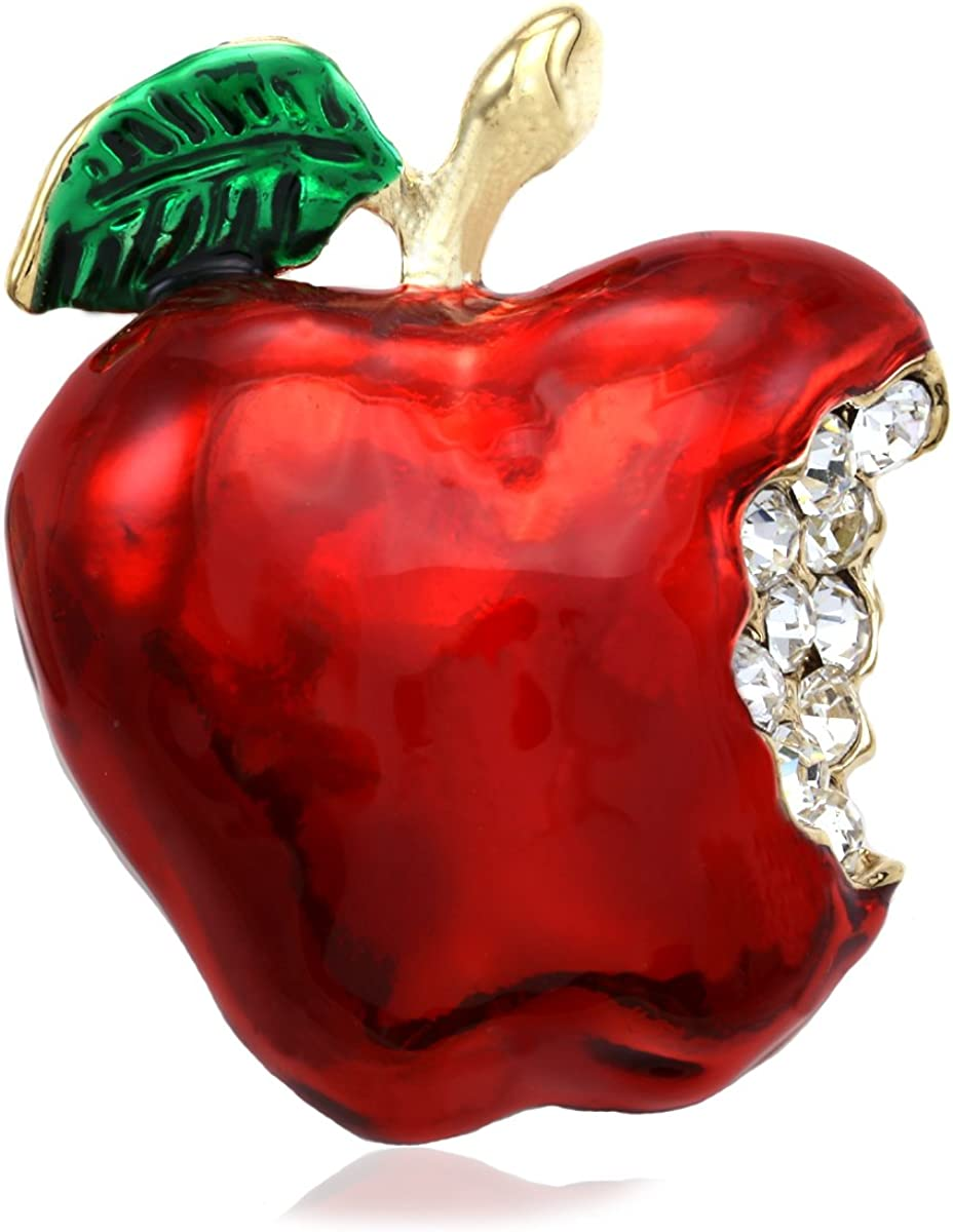 Soulbreezecollection Teacher Appreciation Thank You Gift Red Apple Fruit Brooch Pin