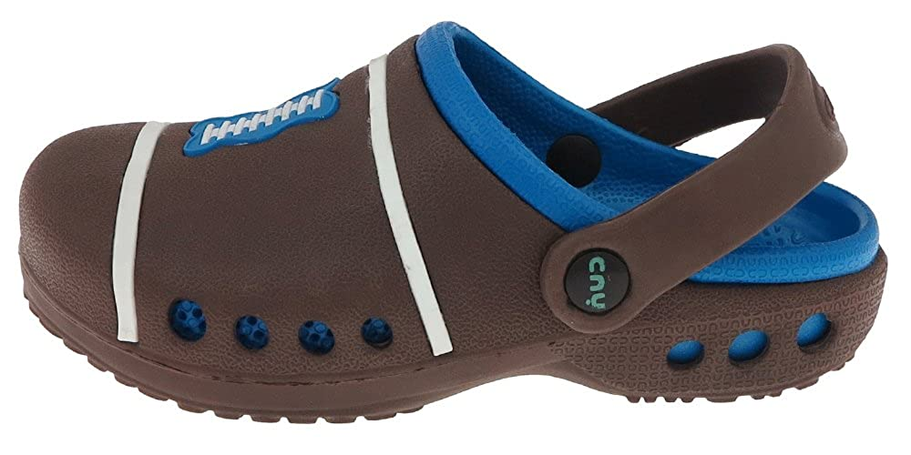 Capelli New York Boys Football Injected EVA Two Tone Clog with Backstrap