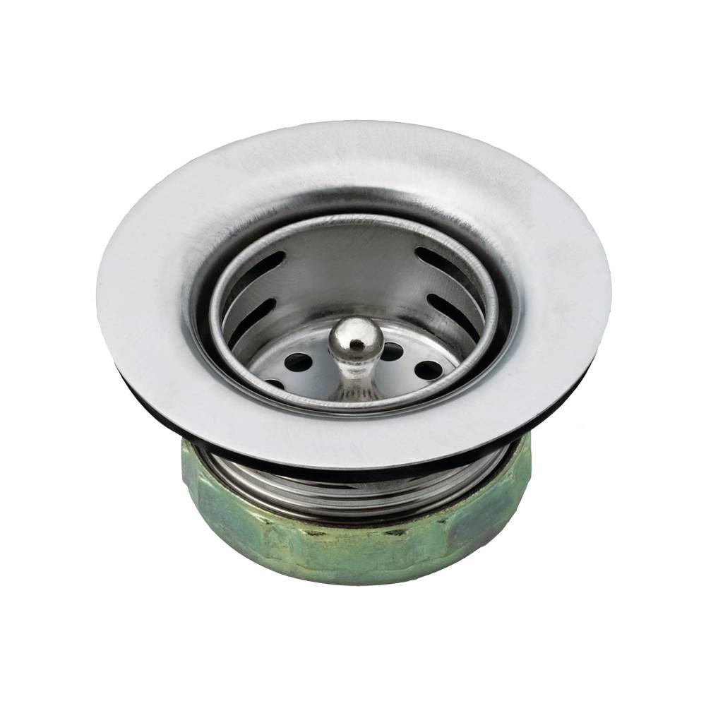 "2"" drop-in bar sink strainer with drain assembly, Stainless Stell"