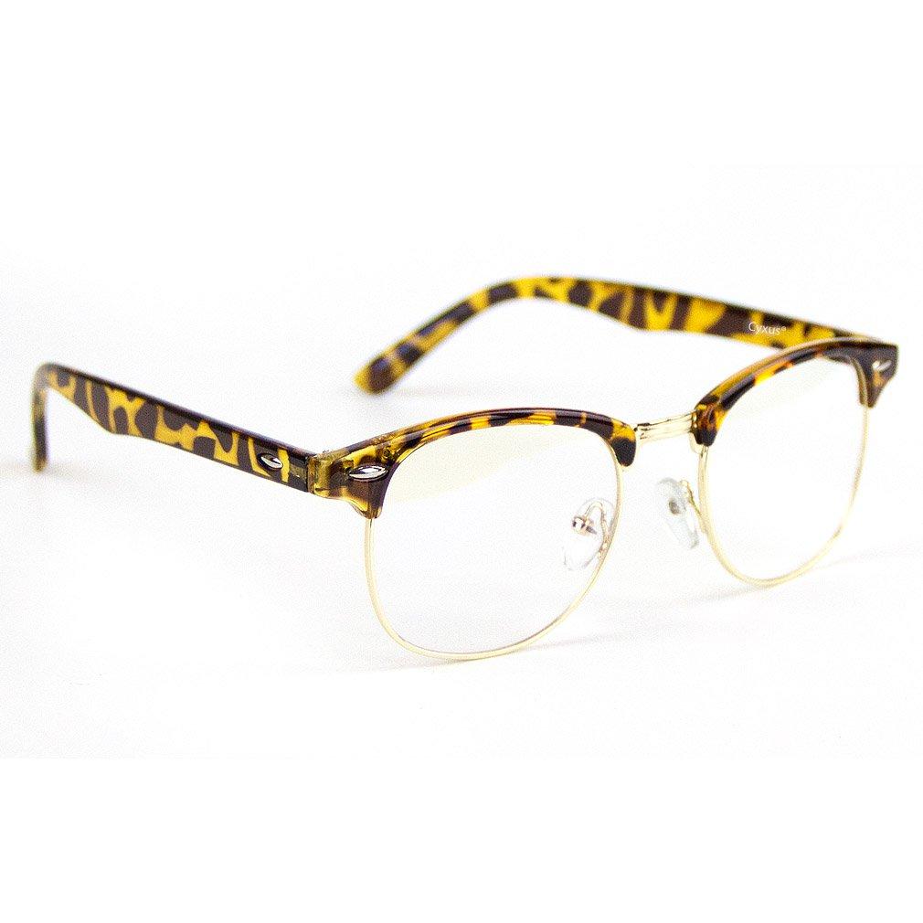 Cyxus Blue Light Filter Glasses, Transparent Lens, Leopard Print Frame Cyxus Technology Group Ltd