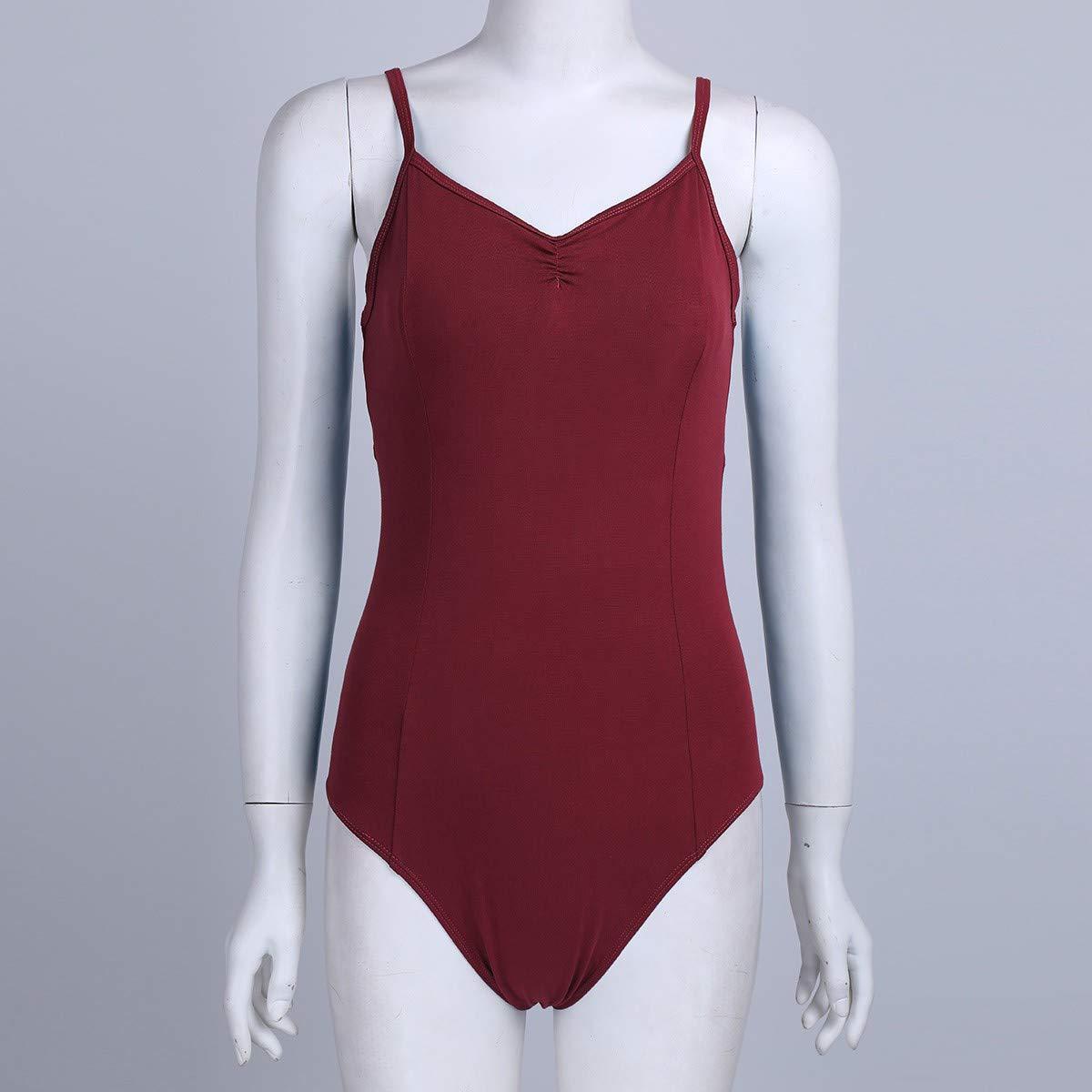 YiZYiF Femme Justaucorps de Danse Ballet Léotard de Gymnastique Bodysuit de  Danse Classique Body de Sport Yoga Combinaison à Bretelle Costume Danse  Romper ... b8da9aab23c