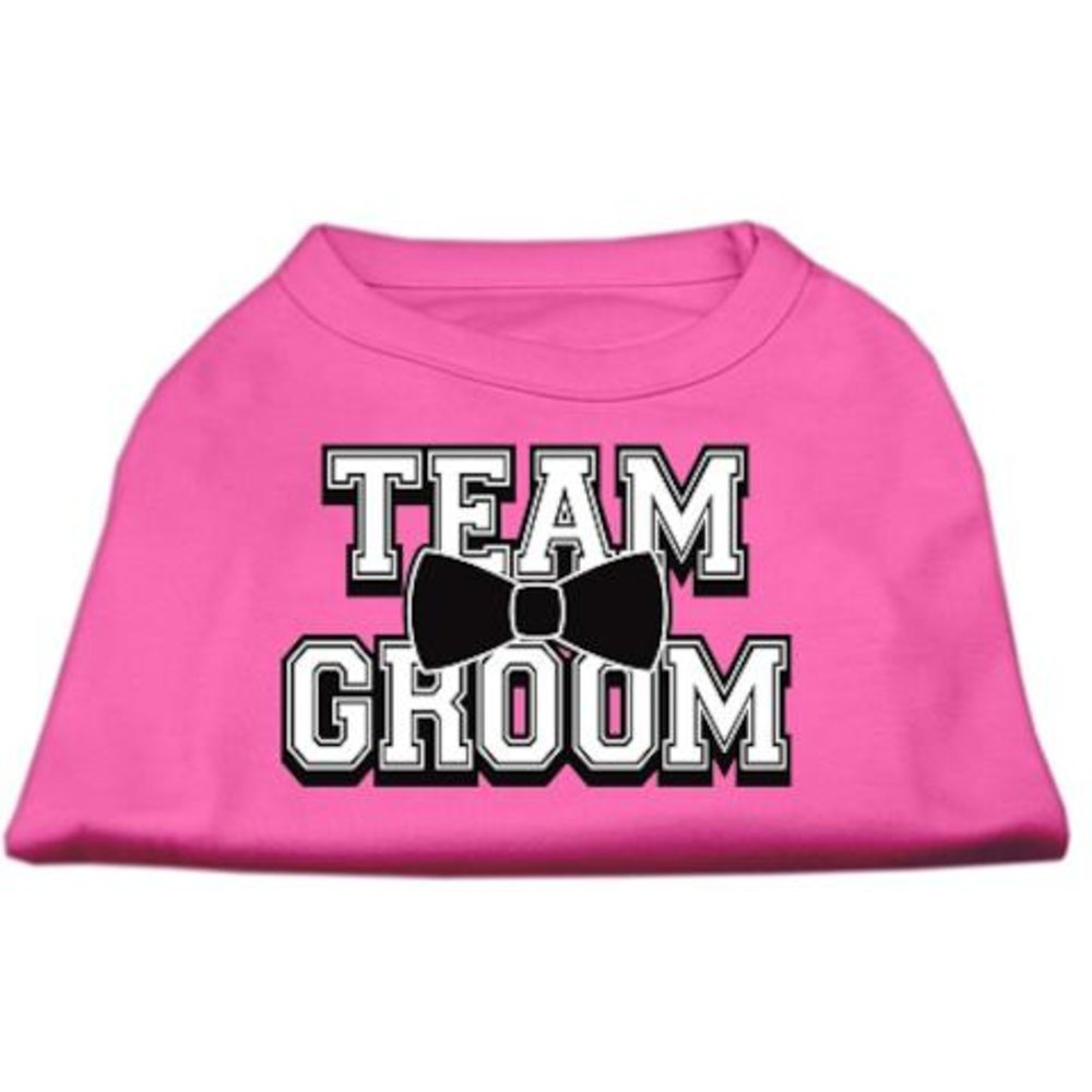 Dog   Cat   Pet Charms Team Groom Screen Print Shirt Bright Pink Lg (14)