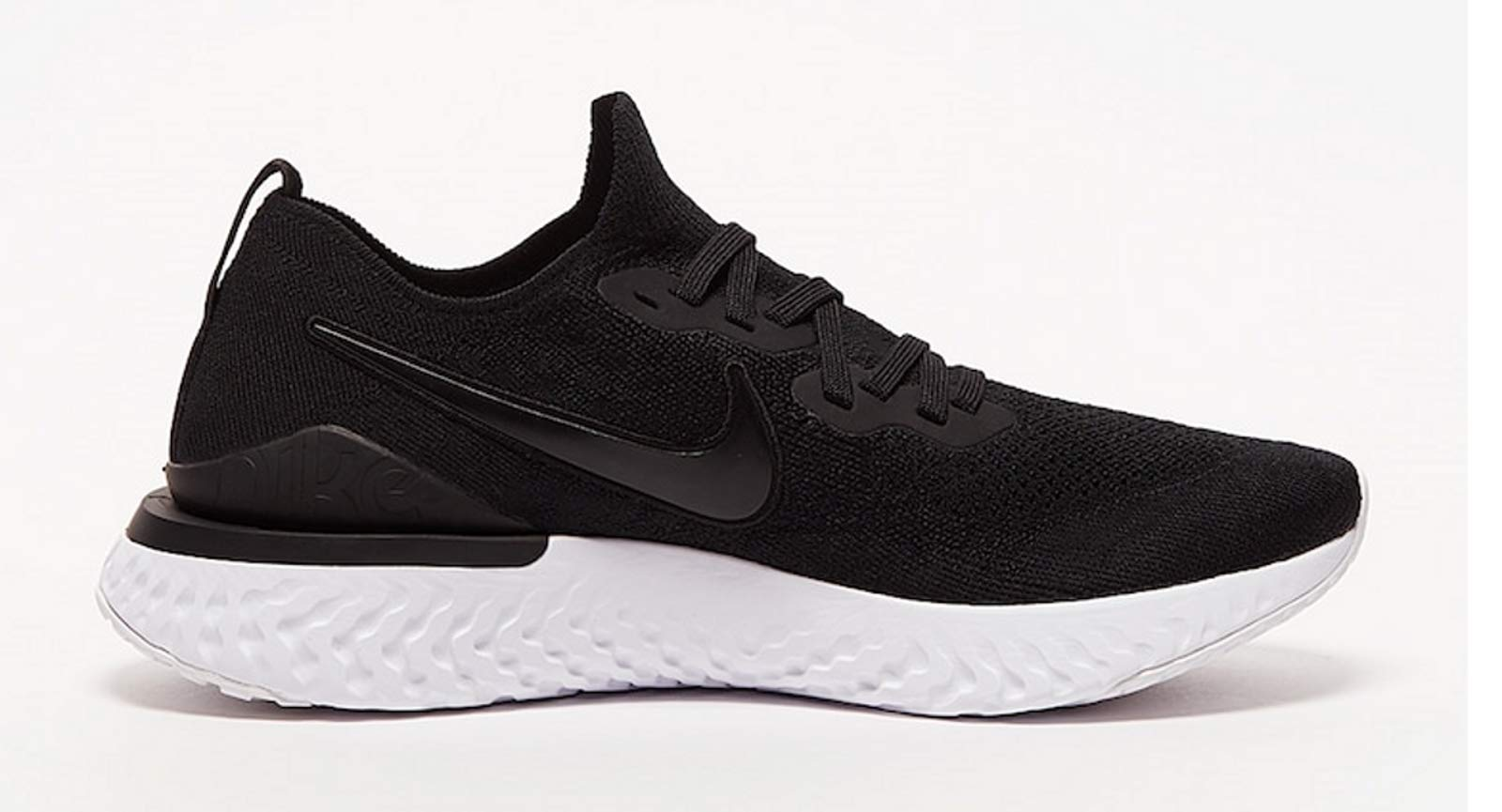 Nike Mens Epic React Flyknit 2 Running Shoes (Black/White/12 D