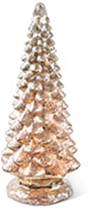 K&K Interiors 53606A 16.5 Inch Battery Operated Led Mercury Glass Christmas Tree