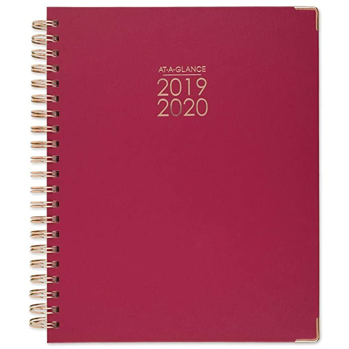 """Happy Planner Medium Snap-in Hard Planner Cover 9.75/""""x7.75/""""-white W//gold Dots"""