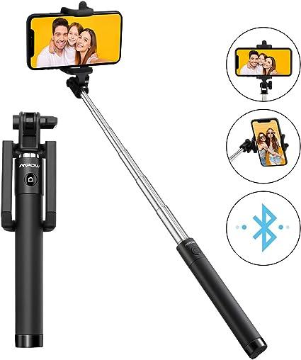 comprar Mpow Palo Selfie Movil, Selfie Stick Bluetooth Diseño ligero, inalámbrico palo selfie con Bluetooth Remoto Compatible iPhone 11/11 Pro Max/XS Max /XR/X/8/7/ 6, Galaxy S10/S9/S8, etc