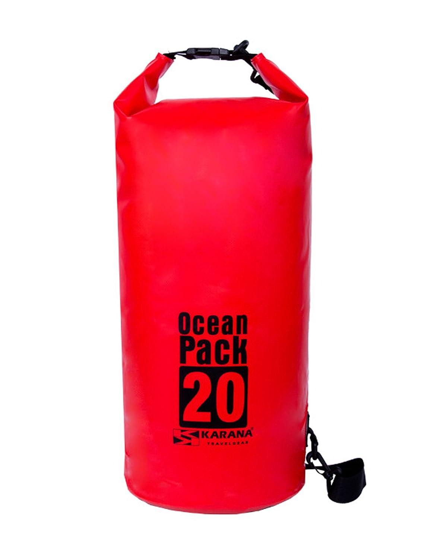 Karana Ocean Pack防水ドライバッグ20リットル( 112042720、レッドカラー1個。 B01F2BZ7JU