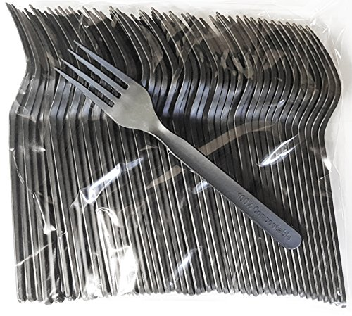 (Compostable Heavyweight Disposable Forks - 100 Count CPLA Forks - Eco Friendly Compostable Forks Made from Cornstarch)