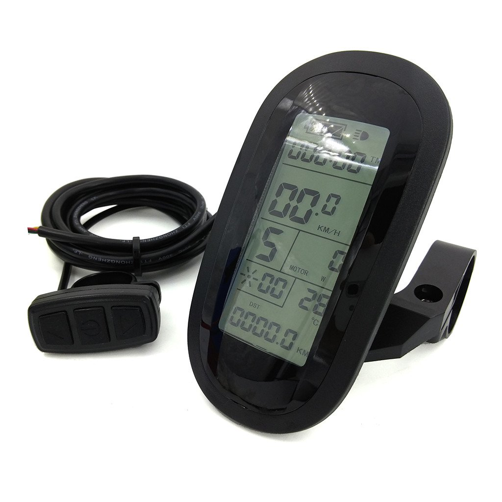 ZOOMPOWER ebike 24v 36v 48v intelligent kt lcd lcd6 ktlcd6 control panel display electric bicycle bike parts kt controller by ZOOMPOWER (Image #2)