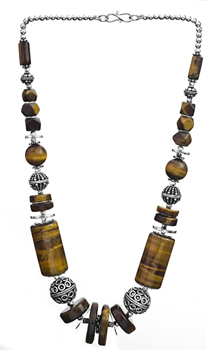 Exotic India Tiger Eye Choker Sterling Silver