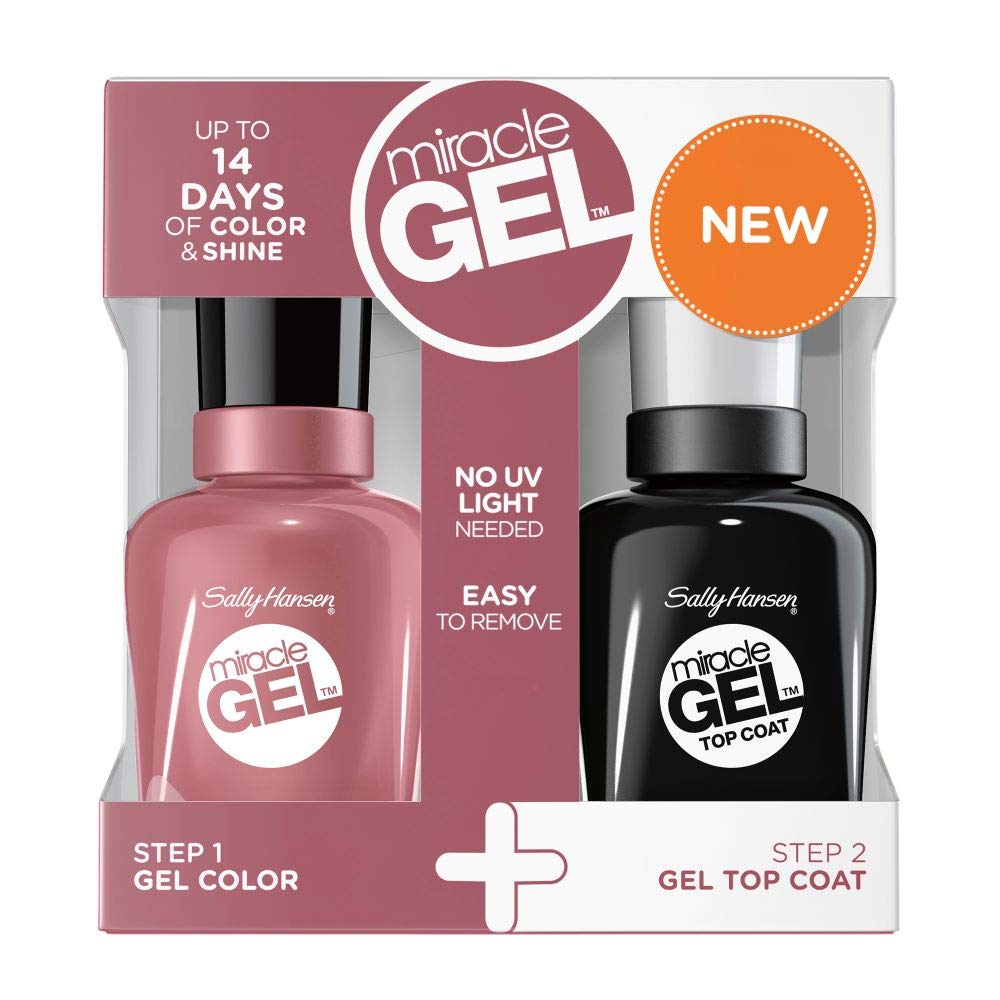 Sally Hansen Miracle Gel, Nail Polish 811 MAKE ME MAUVE + TOP COAT ...