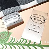 100 pcs Heart foral oval Frame design Handemade with love Custom text logo personalized Sewing hanging satin ribbon clothing labels folding name tag washable wash care handmade label size C