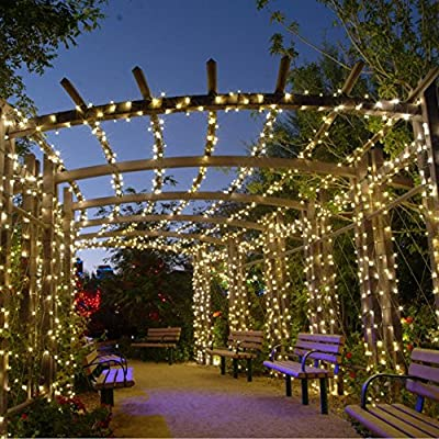Solarmks Solar Lights Outdoor String Lights 200 LED Christmas Lights Waterproof Ambiance Lighting for Patio, Lawn, Home, Wedding, Christmas Party, Xmas Tree, Halloween(Multi-Color)