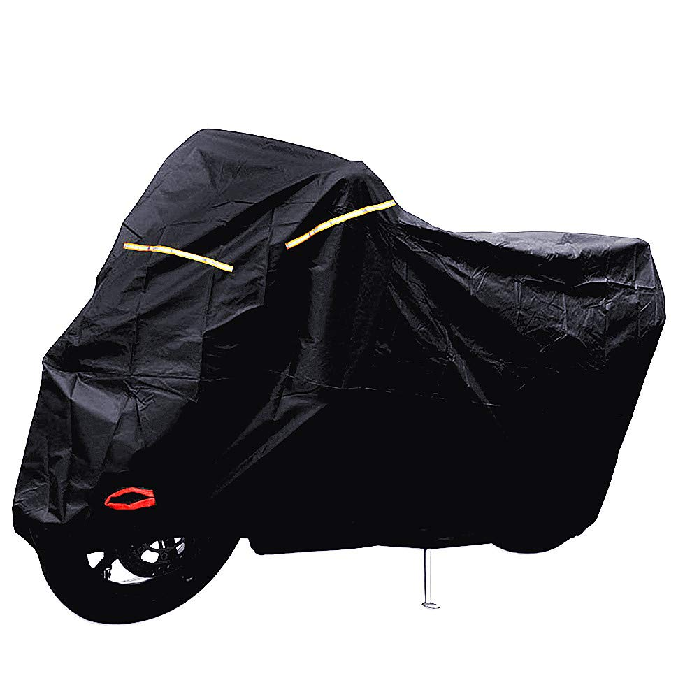Tokept All-Weather Indoor Outdoor Waterproof Motorcycle Cover-Heavy Duty Black Oxford(XXL) for Honda, Yamaha, Suzuki, Harley etc. Protected Year Round