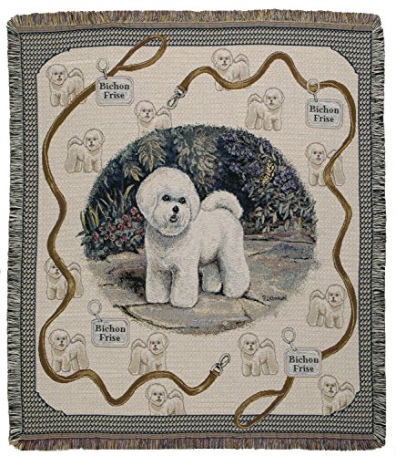 Bichon Frise Tapestry (Bichon Frise Dog Breed Woven Tapestry Afghan Throw Blanket 50