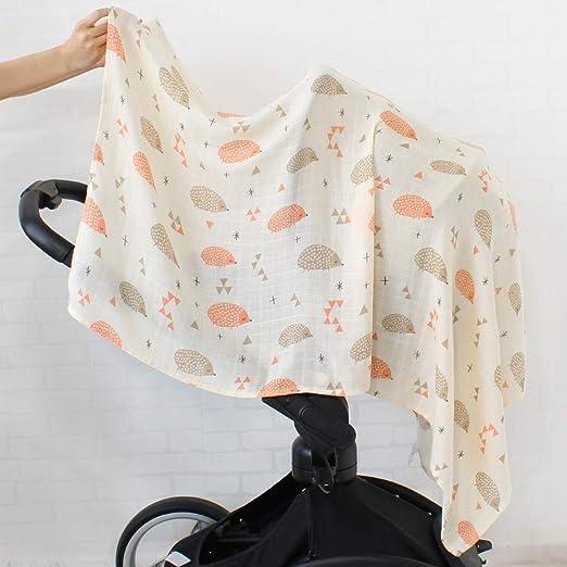bonita manta gris manta para ni/ños Manta de punto para beb/é manta para cochecito al aire libre manta para gatear 105 x 75 cm