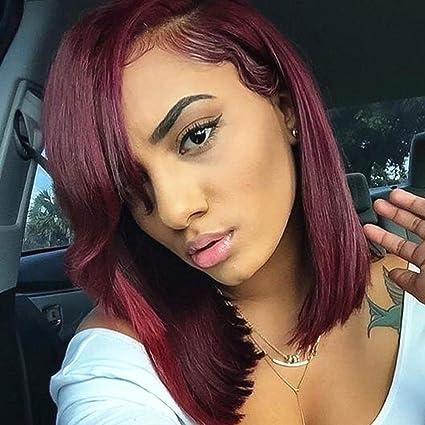 Pelucas Mujer Pelucas Pelucas de cabello humano rojo para ...